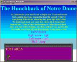 The Hunchback of Notre Dame Windows 3.x Help screen