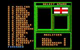 World Class Soccer Amstrad CPC Your squad.