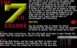 The 7th Square DOS The game's help text describes the nature of the puzzles