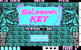 Solomon's Key PC Booter Title screen