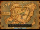 Avadon: The Black Fortress Windows The map of the continent of Lynaeus is displayed on the loading screen, along with a random playing tip.