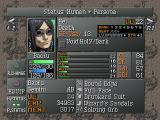 Persona 2: Eternal Punishment PlayStation Status and equipment screen