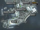 Persona 2: Eternal Punishment PlayStation Harbor district map with places of interest highlighted