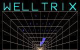 WellTrix Amiga Title screen with flashing logo