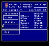 Final Fantasy: Anthology PlayStation Final Fantasy V: Changing jobs and comparing completed abilities