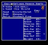 Final Fantasy Anthology PlayStation Final Fantasy V: Status and equipment screen