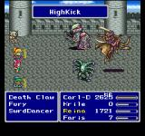 Final Fantasy Anthology PlayStation Final Fantasy V: Battle against high-level monsters on a castle wall
