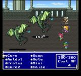 Final Fantasy Anthology PlayStation Final Fantasy V: Battling fancy flying monsters while opening the list of current magic