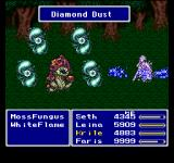 Final Fantasy Anthology PlayStation Final Fantasy V: Summoning Shiva during a forest battle!