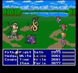 Final Fantasy Anthology PlayStation Final Fantasy V: Simple world map battle - nice backgrounds, high damage...