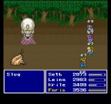 Final Fantasy Anthology PlayStation Final Fantasy V: Battle in a forest - one of my weapons is imbued with an instant death ability... see for yourself what happens