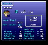 Final Fantasy Anthology PlayStation Final Fantasy VI: Status screen