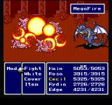 Final Fantasy Chronicles PlayStation Final Fantasy IV: Bahamut summon - MegaFire!