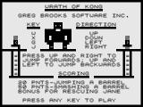 Wrath of Kong ZX81 Instructions