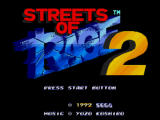 Streets of Rage 2 Windows Title screen