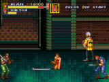 Streets of Rage 2 Windows Weapon pick-up