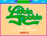 Libble Rabble Arcade Title Screen.