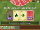 Plants vs. Zombies 2: It's About Time iPad The first selection cards to be added to my progression.