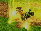 Suikoden PlayStation A powerful lightning spell cast on a group of enemies