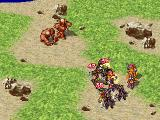 Suikoden PlayStation Earth golems are hurling stones at us