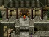 Suikoden II PlayStation Fancy mansion entrance in one of the medium-sized towns
