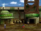 Thousand Arms PlayStation The entrance to the mountain rail system that runs between several points of the game