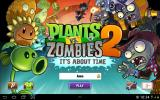 Plants vs. Zombies 2: It's About Time Android Title screen
