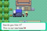 Pokémon Emerald Version Game Boy Advance Beginning of the game. We just moved into this new town.