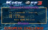 Kick Off 3: European Challenge DOS The menu screen