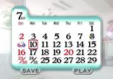 Ø Story PlayStation 2 Calendar shows the days advancing.
