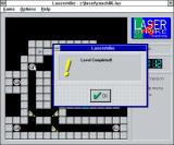 Laserstrike Windows 3.x This is the message the player sees when they successfully complete a level. There is no automatic advancement to the next level, the player selects their puzzle manually