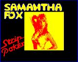 Samantha Fox Strip Poker BBC Micro Title screen