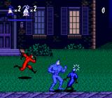 The Tick Genesis Fighting ninjas on the lawn