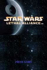 Star Wars: Lethal Alliance Nintendo DS Title screen.