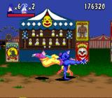 The Tick SNES Kicking some clowns