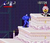 The Tick SNES A bomb-throwing clown inside the cake
