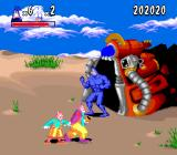 The Tick SNES Clowns on a beach and a portal