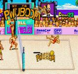 Super Spike V'Ball Sharp X68000 PWUBOOM! Super Spike blasting away not one but both opponents