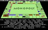 Waddingtons Deluxe Monopoly Commodore 64 The board of play.