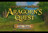 The Lord of the Rings: Aragorn's Quest PlayStation 2 Title/menu screen.