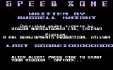 Speed Zone Atari 8-bit Title screen