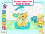 Strawberry Shortcake: Puppy Palace iPad Groom them from head to tail!