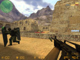 Counter-Strike: Condition Zero Windows Long distance, but enemy is visible. Shoot.