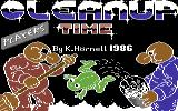 It's Clean-Up Time Commodore 64 Title Screen.