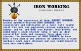Sid Meier's Civilization DOS Iron working info
