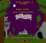 Zwackery Arcade Title Screen.