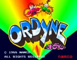 Ordyne Arcade Title Screen.