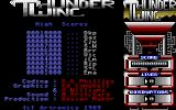 Thunderwing Atari ST Title menu with high-score table