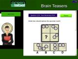 Brain Teasers Windows An example question in the Masterclass quiz. The player has to scroll down the select their answer