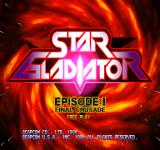 Star Gladiator: Episode 1 - Final Crusade Arcade Title screen.